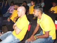 Footballer Ian Hume watching Mind reader Aladin show in Kochi Cochin Kerala
